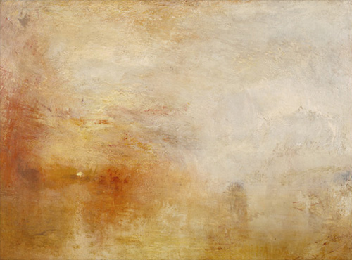 JMW Turner - Sun Setting over a Lake