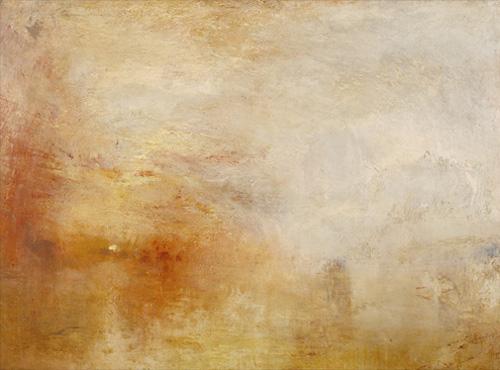 JMW Turner - Sun Setting over a Lake