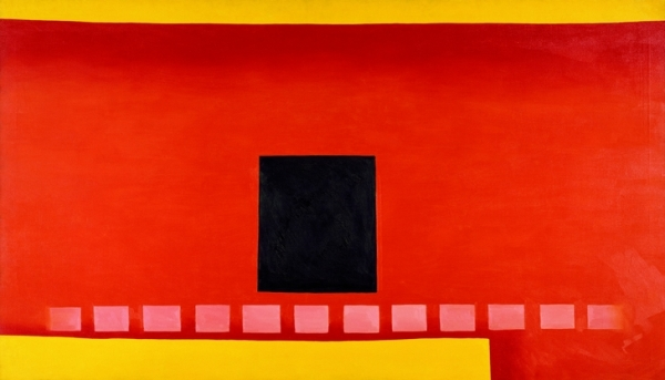 Georgia O'Keeffe - Black Door with Red, 1954.