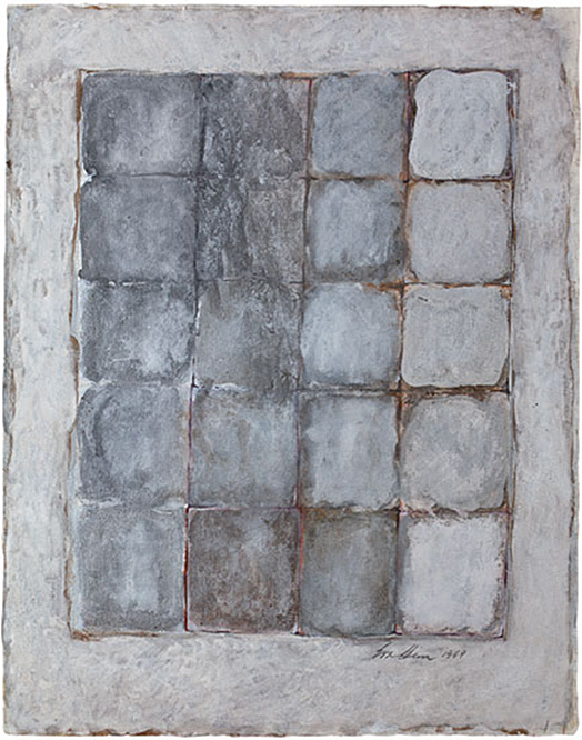 Wonderingmind Studio: Eva Hesse, No Title, 1969. Gouache, watercolor, silver and bronze paint on paper, 21-3⁄4 x 17-1⁄4 inches
