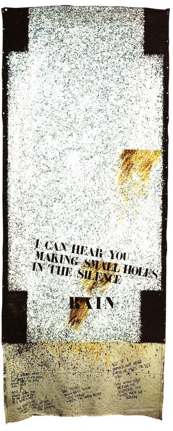 Ralph Hotere, Rain, 1979